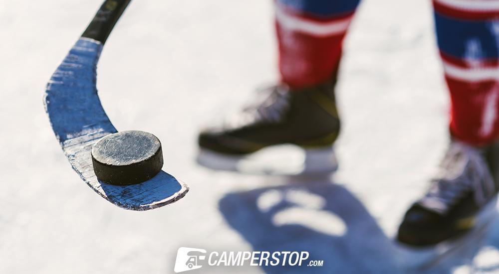 schaatsbaan camper
