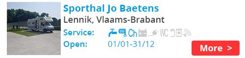 Camperstop Sporthal Jo Baetens Lennik Belgium