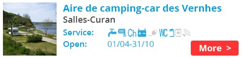 Aire de camping-car des Vernhes Salles-Curan France