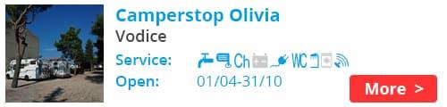 Camper stop Olivia, Vodice Croatia