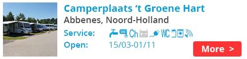 Camperplaats 't Groene Hart Abbenes Holland