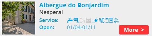 Albergue do Bonjardim nesperal portugal