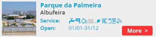 Parque da Palmeira Camperstop Albufeira Portugal