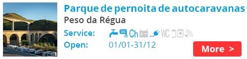 Parque de pernoita de autocaravanas Peso da Régua Portugal