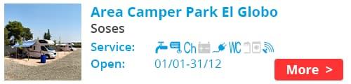 Area Camper Park El Globo Soses Spain