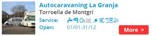 Autocaravaning La Granja Torroella de Montgri Spain