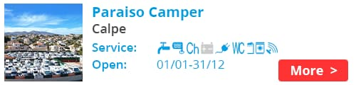 Paraiso Camper Calpe Spain