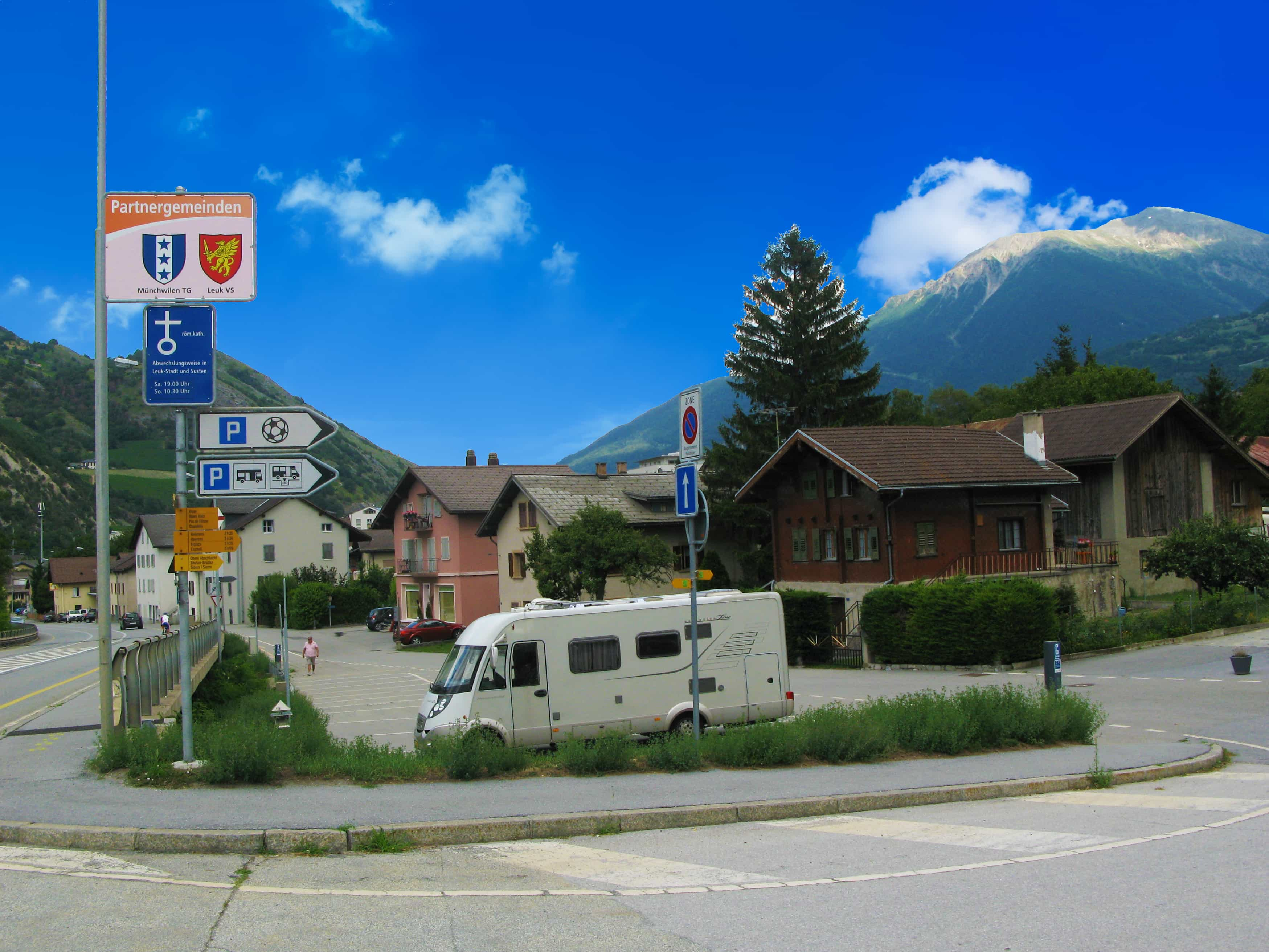 Camperstop Leuk Switzerland