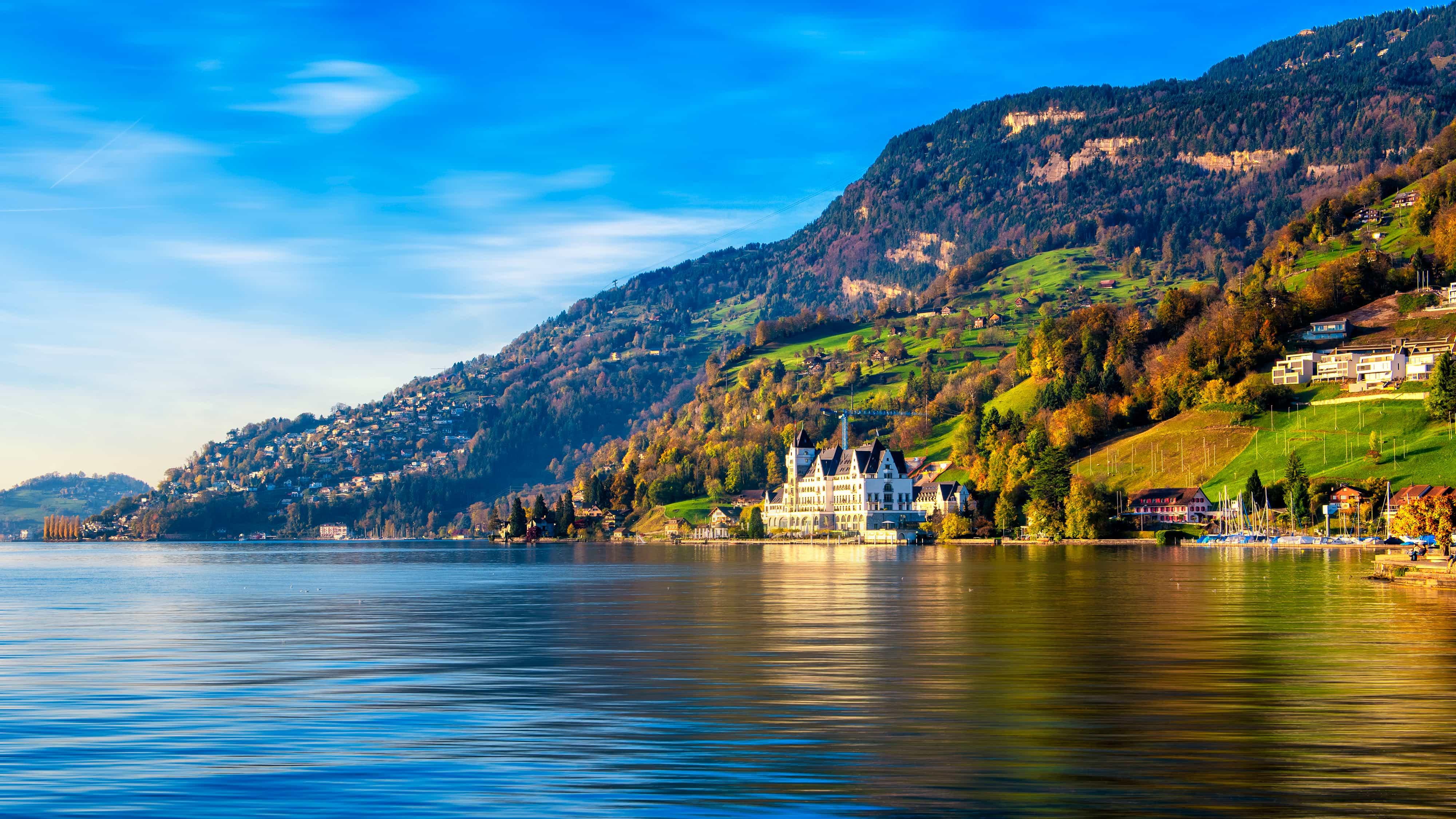 Luzern Switzerland Lake Motorhomes